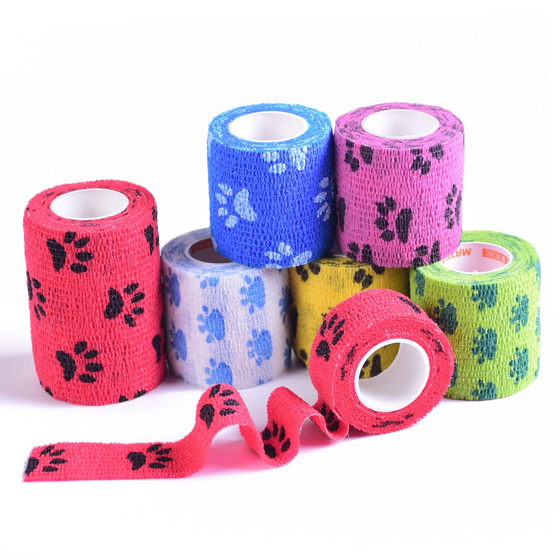Outdoor Medical Bandage First Aid Kit Cartoon Adhesive Elastic Bandage Breathable Tape Colorful Pet Bandage 5cm*4.5m