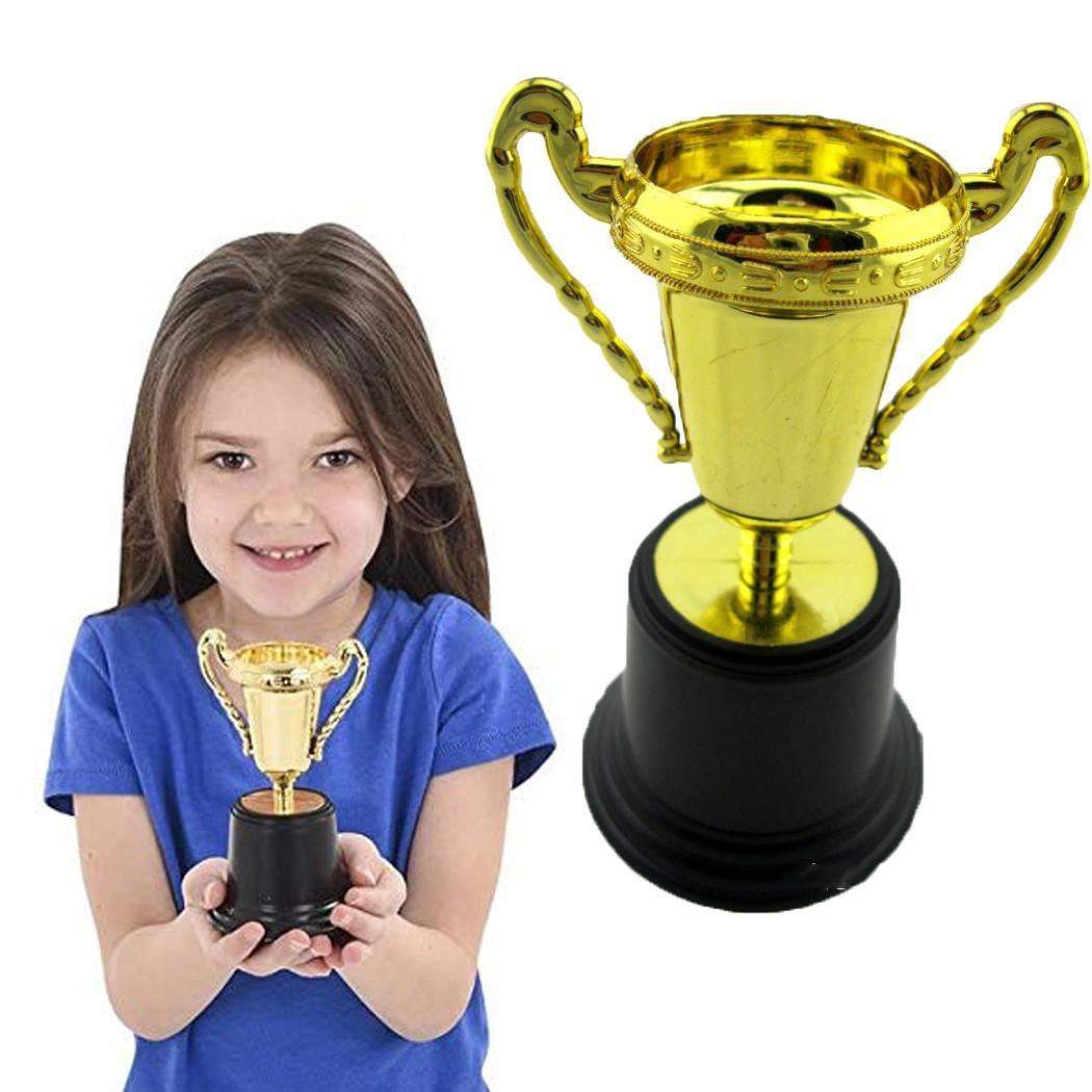 Funny Creative Kids Plastic Gold Trophy Educational Prop > 3 Years Toy Table Decor