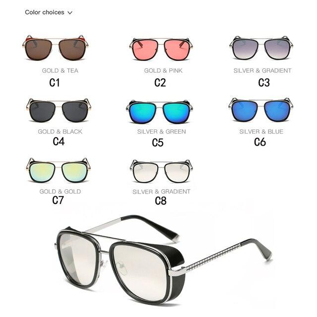 Iron Man-Gafas de sol de diseño Vintage para hombre, lentes de sol unisex con revestimiento de Rossi, estilo retro, con protección UV400, Modelo 3 Matsuda TONY stark 3