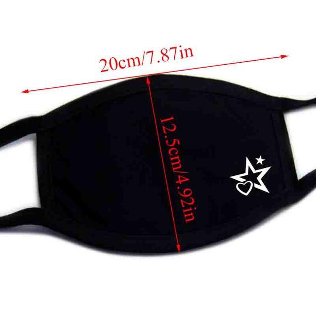PM2.5 Fashion Women Black Luminous Mouth Mask Anti Dust Mask Windproof Mouth-muffle Bacteria Proof Flu Face Masks Care Reusable 1