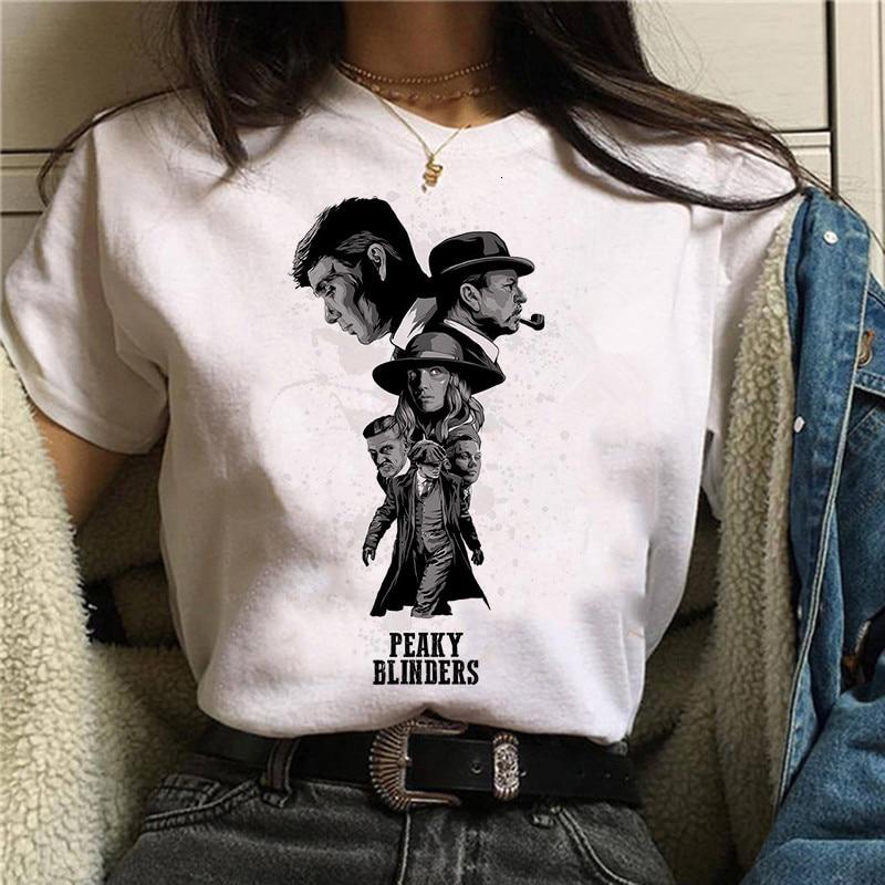 Peaky Blinders T Shirt Top Tee T-shirt Oversized Male/women Men Tshirt Fashion Streetwear Hip Hop Shirts Cool O-Neck Summer 2