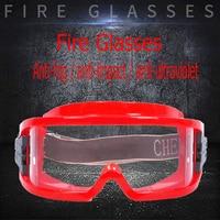 Óculos de segurança anti-nevoeiro anti-impacto anti-química do seguro do trabalho óculos de lente do pc do quadro vermelho