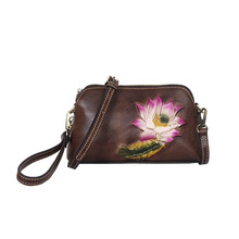 Vintage Splicing  Leather Geometric Women Shoulder Bags 2020 New Retro Embossed Tassel Patchwork Messenger Bag