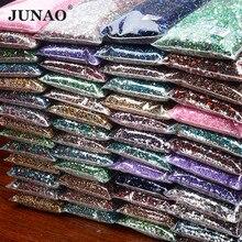 JUNAO – Strass à paillettes en résine cristal pour Nail Art, couleur Lt. Siam, 2mm 3mm 4mm 5mm 6mm, vente en gros