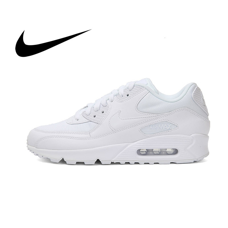 Original Nike Air Max 90 Essential Men's Running Shoes Wear Resistant Classic Sport Outdoor Mesh Breathable Sneakers 537384-111