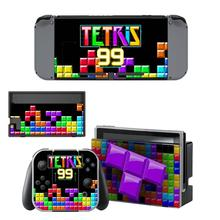 TETRIS 99 Nintendoswitch Skin Vinyl Sticker Decal Cover for Nintendo Switch Full Set Faceplate Stickers Console Joy-Con Dock