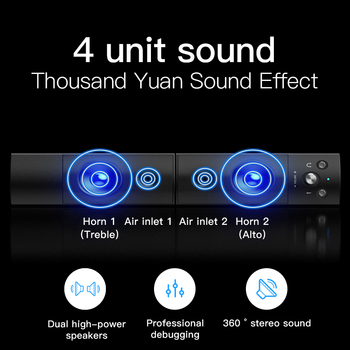 Computer Speakers Detachable Bluetooth Speaker Bar Surround Sound Subwoofer For Computer PC Laptop USB Wired Dual Music Player 6