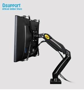 """Image 4 - NB brazo de soporte de Monitor LED F80 + FP 1 para Monitor sin agujero VESA, 17 27 """", resorte de Gas, montaje de puntal de Gas de movimiento completo, carga de 2 6,5 kg"""