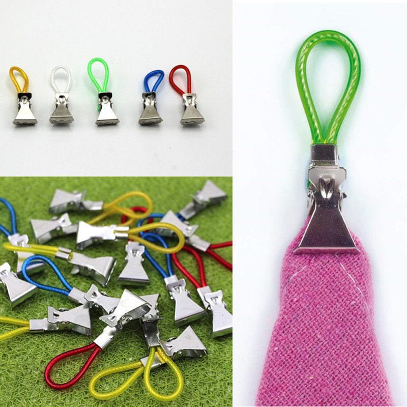 5pcs/set Towel Hanger Clips Tea Towels Clothes Holder Hanging Clips Hooks Multifictional Paper Loops Towel Hangers Storage Tools