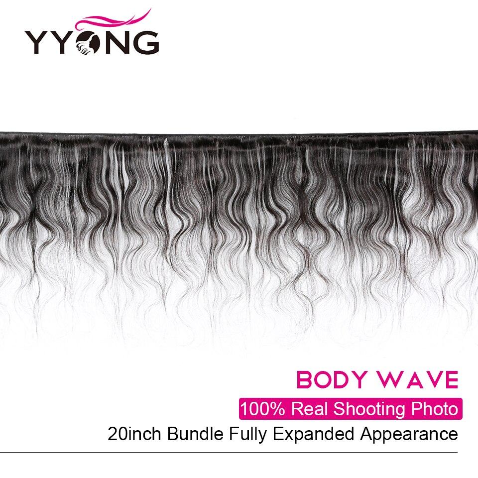 Yyong Hair  Body Wave Hair 4 Bundles Deals  Extention  Hair Natural Color 8-26 Inch  2