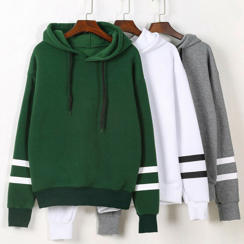 New Women Hoodies Casual Sweatshirt Long Sleeve Hooded Jumper Coat Women's Casual Loose Sports Warm Top