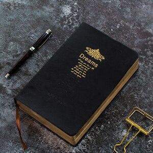 Image 5 - レトロスーパー厚み208枚のブランクノートブックジャーナルリムゴールデンヴィンテージ聖書日記ジャーナルプランナーアジェンダメモ帳文房具