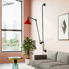 Modern LED Wall Light Lighting Fixtures Nordic Retro Industrial Stretchable Living Room Bedroom Bedside Sconces Aisle Decor Lamp industry wood bedside lamp american creative metal wall sconces home decor aisle balcony living room bedroom wall light wl247