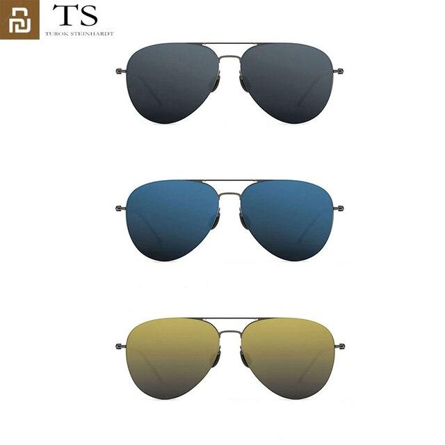 Youpin Turok Steinhardt TS 브랜드 나일론 편광 스테인레스 선글라스 렌즈 100% 자외선 방지 남성 여성을위한 야외 여행
