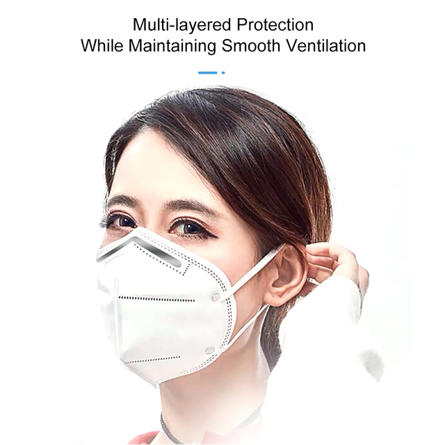 1 3 5 10 50 Pcs masque disposable protective masks mascarias de boca nonwoven 5 layer filte maske safty face mouth mask 2