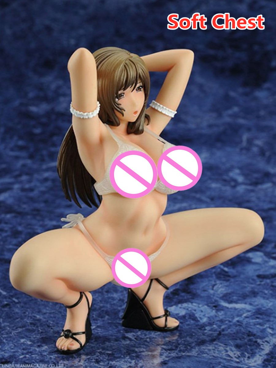 1/7 Q-six Japan <font><b>Anime</b></font> <font><b>Sexy</b></font> Beautiful Girl Dress Up White Soft Chest Bra Ver. PVC <font><b>16</b></font> CM Action <font><b>Figure</b></font> Collectible Model Toys BOX image