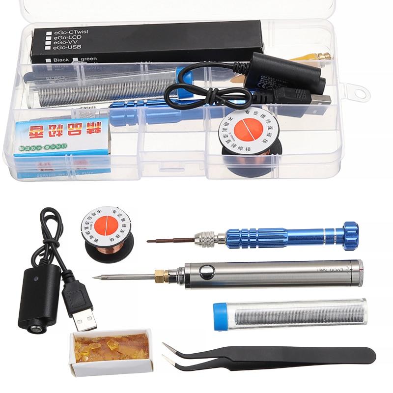 Portable Wireless Charging Battery Soldering Iron Pen Welder with USB Welding Tool Kit Electric Soldering Irons DIY Repair Tool