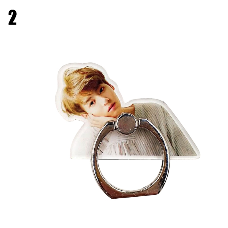 KPOP Bangtan Boys Mobile Phone Desk Holder Pad Stand Finger Ring Bracket LX9A
