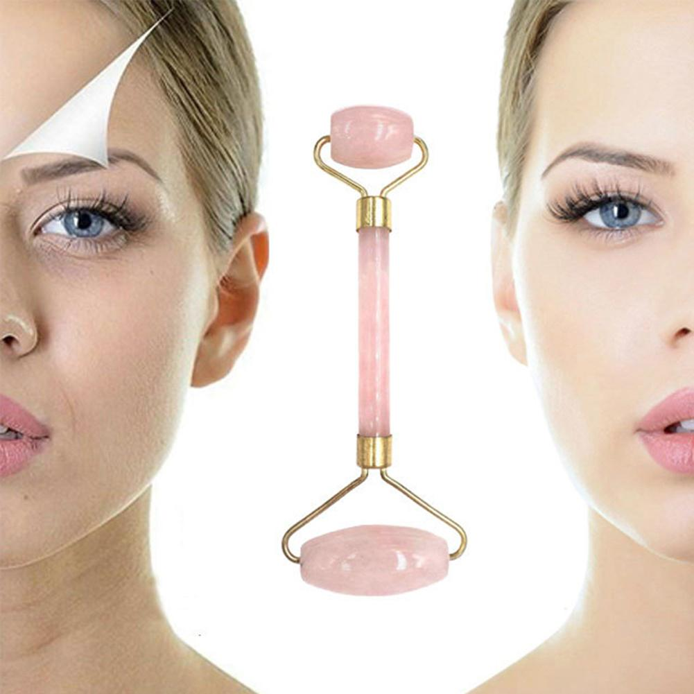 Mini Stone Roller Massager V Scraping Plate Slimming Face Skin Lifting Tool Makeup Tool