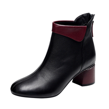 COZULMA Women Autumn Mixed Colors Chelsea Boots Leather Shoes Lady Round Toe Fashion Ankle Boots Female Booties Size 35-40 цены онлайн