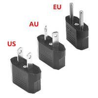 500pcs AU US EU European Power Adapter 2 Pin Australia Travel Adapter Outlet AC Converter Electrical Plug Charger Sockets