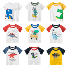 2020 Children's T-shirt for Boys T Shirt Dinosaur Cotton Tops Child T-shirts for Girls Kids Boy T shirt Birthday T-shirt cross t shirt religious religion swag jesus god christian faith bnwt gothicfree shipping tops t shirt