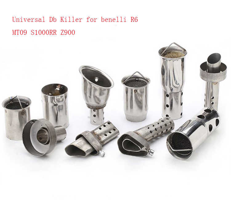 Universele 51/60Mm Front Mid End Katalysator Db Killer Voor Motorfiets Uitlaat Noise Sound Eliminator MT07 S1000RR z750