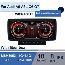Android 10 built in wireless carplay Android Auto Car GPS Navigation player for Audi A6 A6L C6,Q7,4G LTE