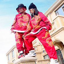 Hip Hop Costumes Children's Chinese Style Street Dance Set Outfit Hiphop Clothing Boys Girls Jazz Stage Performance Wear DN4614(China)