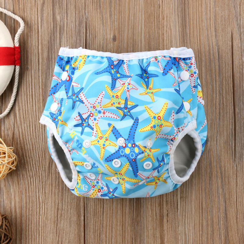 Summer Swim Diaper Nappy Pants Reusable Adjustable For Infant Baby Boy Girl Toddler