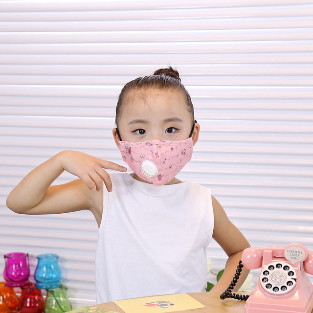 ffp3 boys and girls dustproof, anti-fog, anti-flu, anti-virus, PM2.5, warm and breathable cotton cloth with breathing valve mask