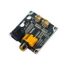 Dac digital decodificador de áudio 24bit 192khz fibra óptica coaxial entrada sinal digital saída estéreo decod placa