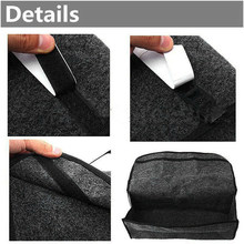 Portable 49x16x24cm Storage bag Felt cloth Gray Accessories Foldable Collapsible Luggage Car Cargo(China)