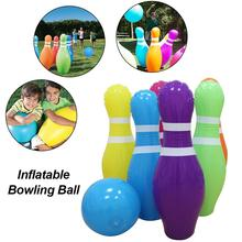 Kids Bowling Set Toy PVC Inflatable Bowling Ball Set With 6