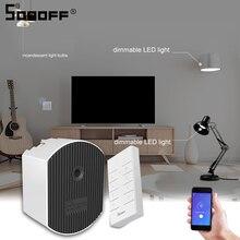 Sonoff interruptor inteligente d1 led, interruptor de luz inteligente wifi/433mhz, controle remoto rf, brilho, ewelink, suporta alexa amazon google home