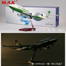Eva air 1/157 модель самолета boeing 747 Смола w/светодиодный