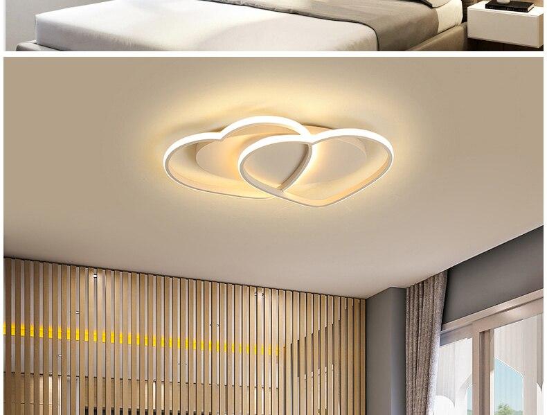 plafondlamp coração-em forma de luz para sala