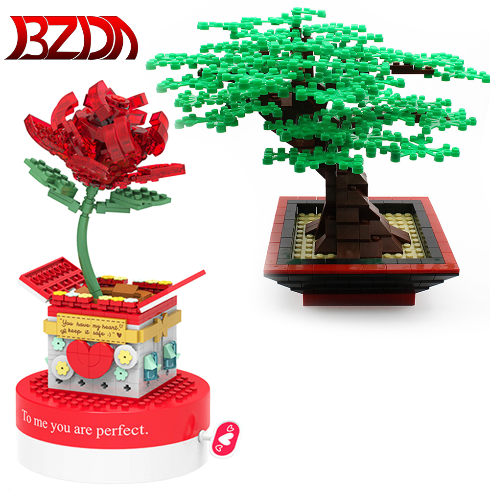 SEMBO City Street View Idea Bonsai Bricks Friends for Girl Creator  Tree Plants Blocks  Toys Flower  Building Blocks Friends diy
