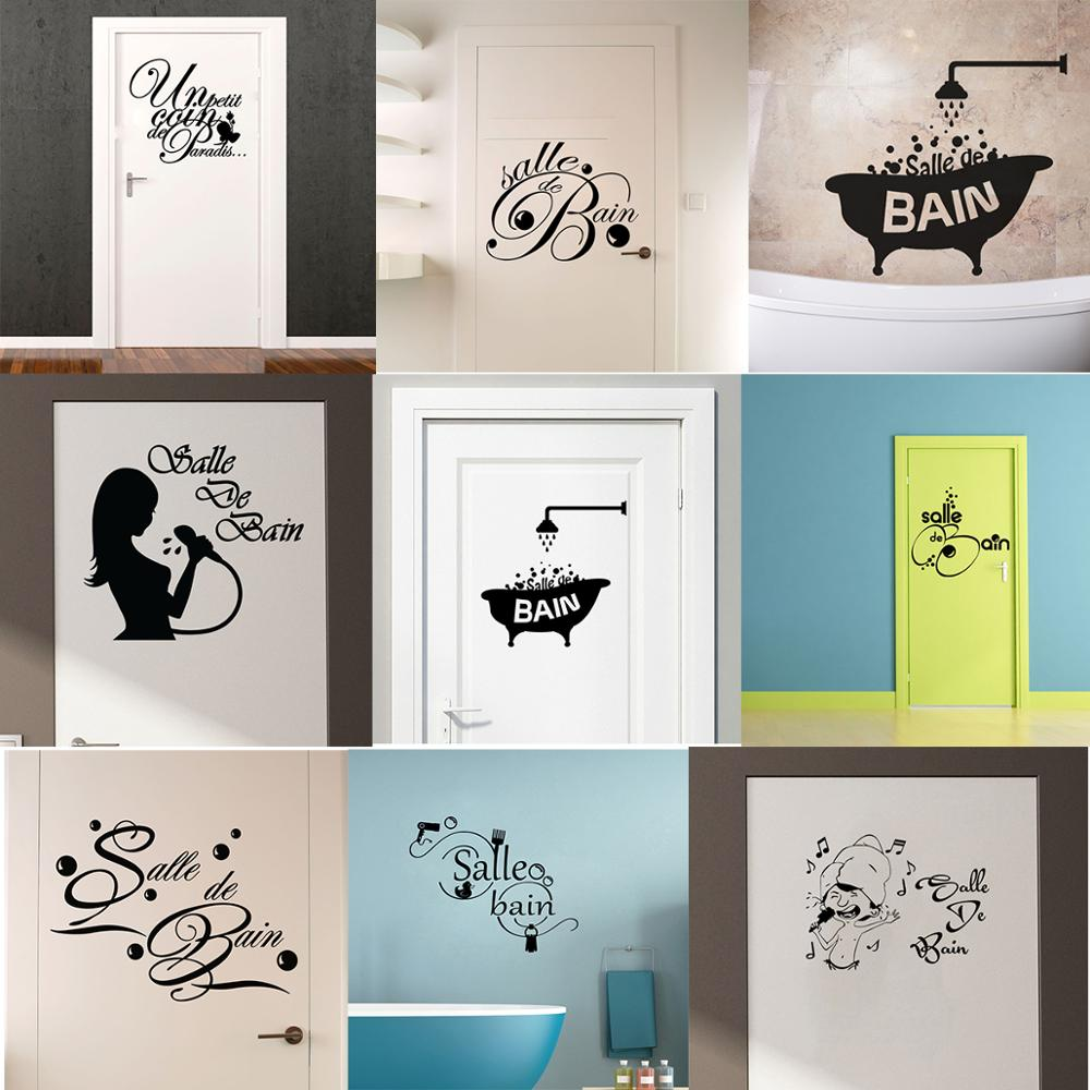 Salle De Bain Wall Stickers Muraux Bathroom Decoration Wall Decals Vinyl Wall Art Posters