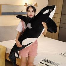 Peluche Orcinus et Orca pour enfants, 75cm/130cm, grande poupée en tissu de poisson, requin, animaux marins réalistes, cadeau d'anniversaire, nouveauté