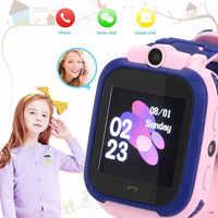S12 Smart montre de téléphone pour enfants 1.44 pouces écran tactile longue veille SOS positionnement appel mains libres pour enfants montre de téléphone