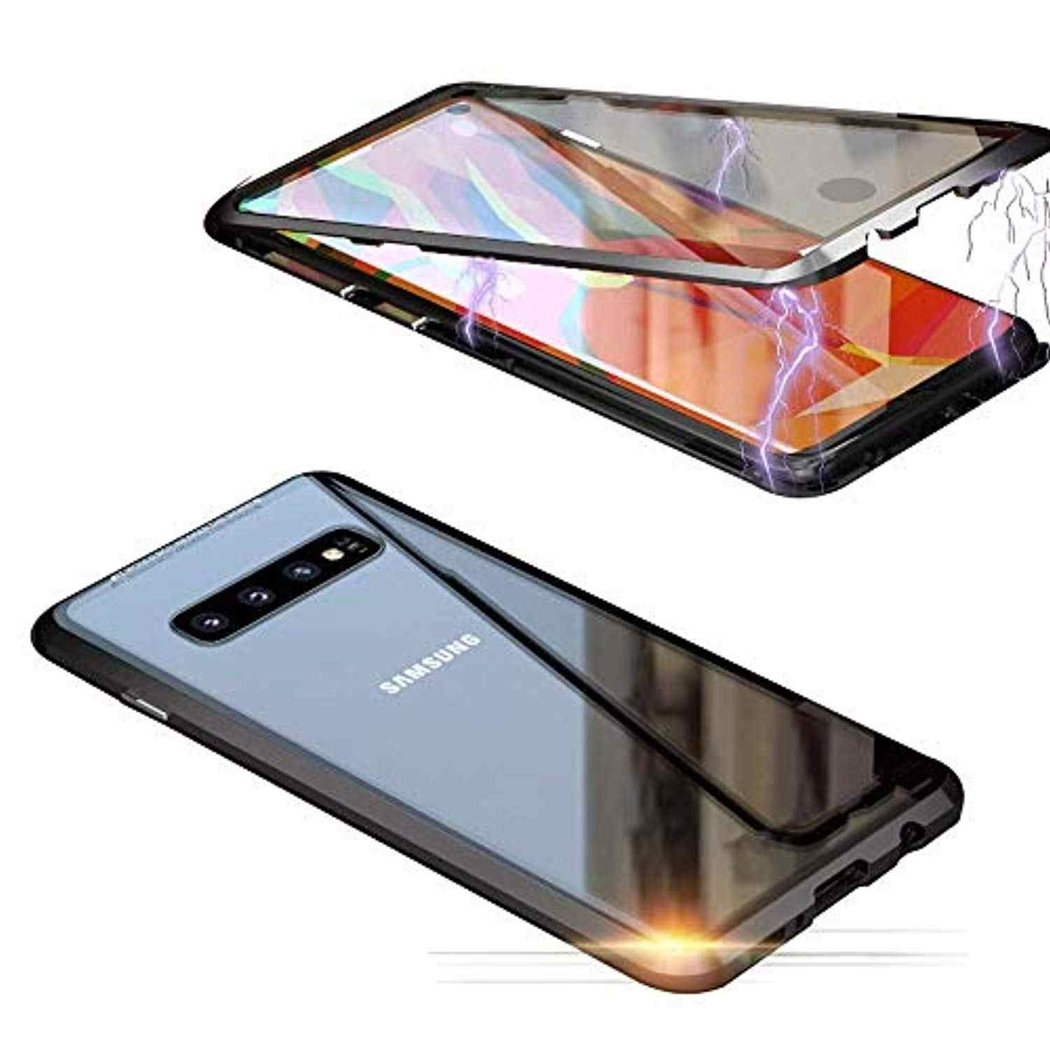 360 Magnetic Screen Protector Metal Aluminum Frame Tempered Glass Case For Samsung Galaxy S10 Plus S10E S9 S8 Note 9 8 Cover