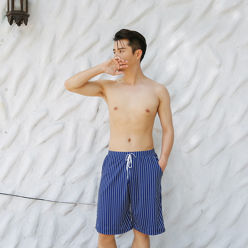 Sea Swim Beach Shorts Men's Shorts Loose Boxer Large Size Quick-Dry Shorts Swimming Trunks Couples Seaside Holiday Swimming Trun