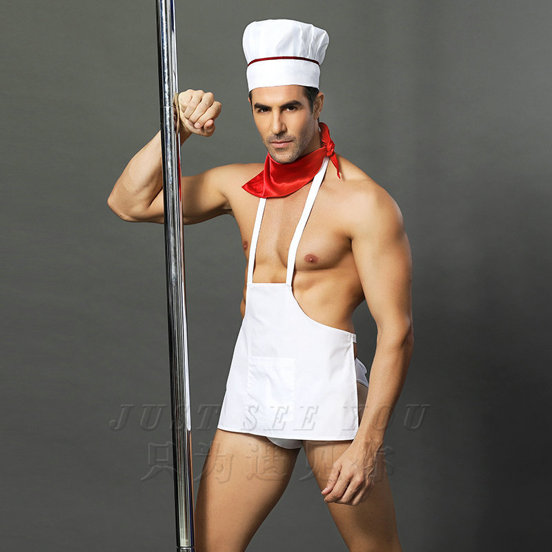 Mens Role Play Costume Outfit Cosply Lingerie For Sex Chef Suit