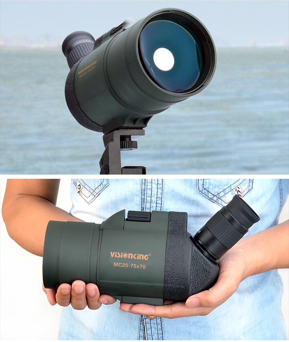 de alta potência à prova dtelágua telescop caça observação de aves alvo
