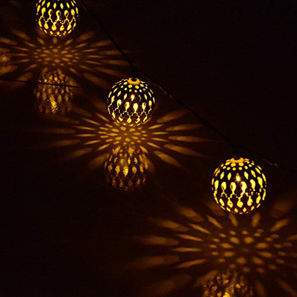 Original Led String Lights Lamp 9.84ft 20 Globe Moroccan Balls For Christmas Party Outdooor Garden Patio Home Decoration Light
