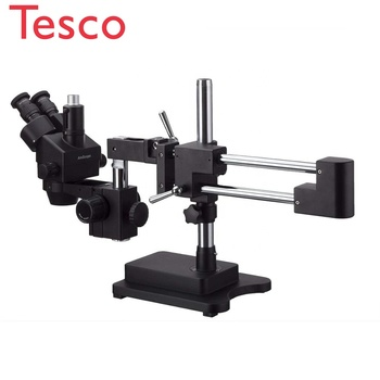 3.5 x -180 X Trinocular Stereo Zoom Microscope With Black Arms Boom Stand