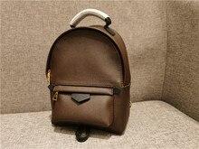 Mini mochila feminina sacos de luxo clássicos lona palm springs bolsa de ombro design famoso senhora moda meninas mochila