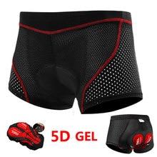 Cycle-journaux mise à niveau cyclisme Shorts sous-vêtements de cyclisme 5D Gel Pad antichoc cyclisme sous-pantalon vtt vélo Shorts sous-vêtements de cyclisme