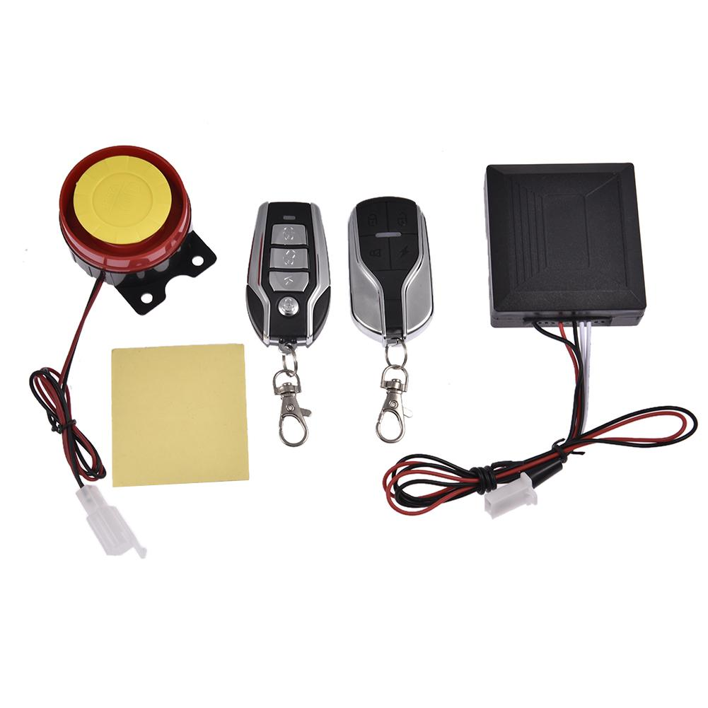 Moto Alarm Motorcycle Scooter Security Alarm System Anti-theft Remote Control Engine Start Motorcycle Alarm Speaker Alarm